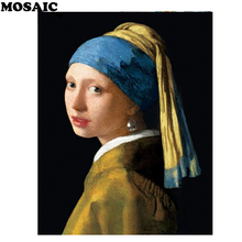 MOSAIC NEW Diamond embroidery,Johannes Vermeer,5d diy diamond painting full square mosaic rhinestones home decor