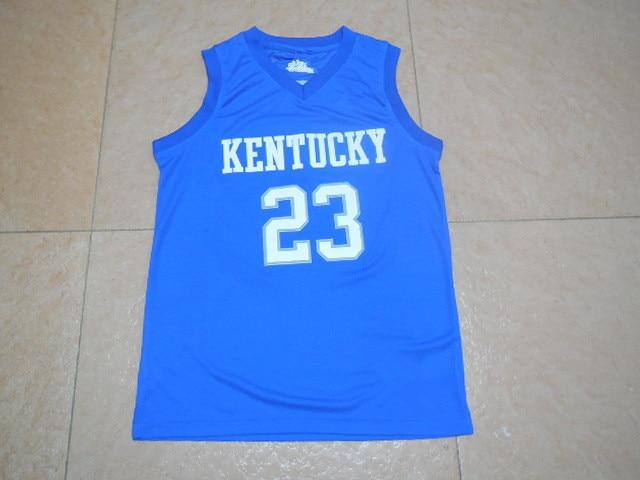 ... Swingman Stitched NCAA Jersey 23 Anthony Davis 11 John Wall 4 Rajon  Rondo Kentucky Wildcats college basketball ... b0a9a85a6