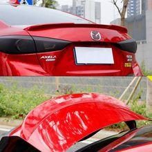Hot ABS plastic rear wing color spoiler auto parts for Mazda 3 Axela sedan 4 doors 2014 2015 2016 laser head sf hd868 sf hd850