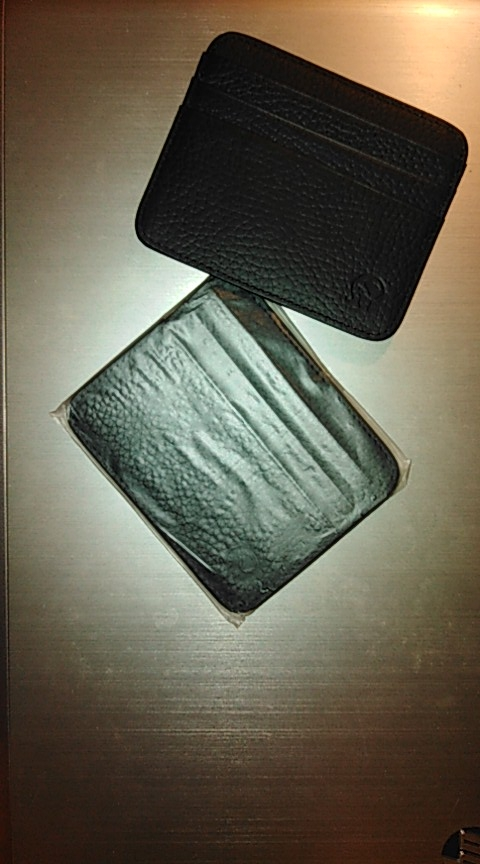 Klsyanyo Men Women Real Leather Minimalist Business Bank Card Case Card Holder Credit Cardholder Porte Carte Money Coin Purse photo review