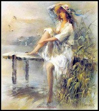 Waterside - Counted Cross Stitch Kits Handmade Needlework for Embroidery 14 ct Sets DMC Color