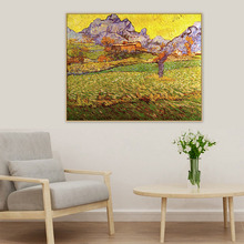 A Meadow in the Mountains Le Mas de Saint-Paul Van Gogh Famous Master Artist Original Canvas Painting Print Wall Art Home Decor