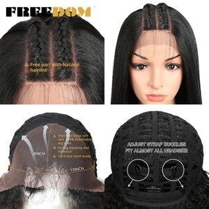 Image 5 - Парик Синтетический на сетке спереди для чернокожих женщин Yaki, прямой длинный парик 26 дюймов, парик на сетке, Детские волосы из термостойкого волокна