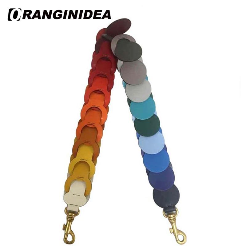 17 SS Circle Link bandoulière pour sacs en cuir véritable sac sangle arc-en-ciel sac à main sac à bandoulière sangles de remplacement sac de ceinture