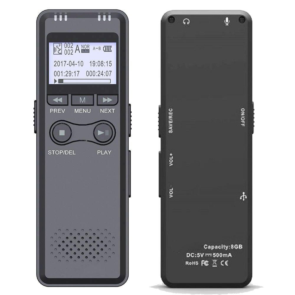 Professioneller Verkauf 16g Mp3 Player Noise Reduktion Wiederaufladbare Stimme Aktiviert Eine Taste Diktiergerät Audio Lcd Screen Digital Recorder Tagungen Tragbares Audio & Video
