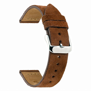 Image 4 - EACHE 18mm 20mm 22mm Watchband 100%  Suede Leather Watch Strap  for men women Watch bands
