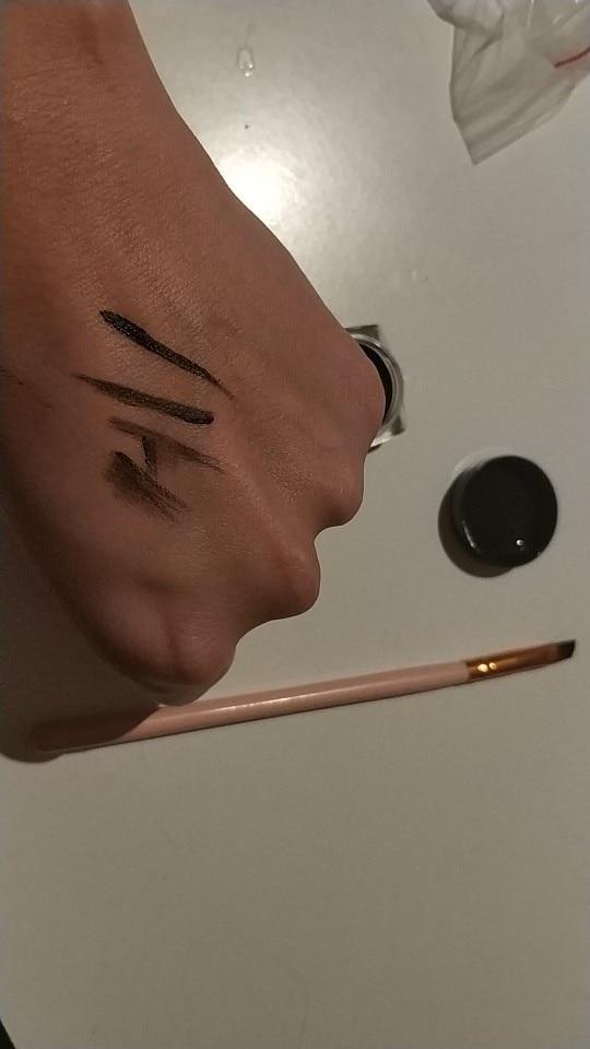 Black Beauty Eyeliner Gel With Brush Cosmetic Waterproof Eyeliner Shadow Gel Eye Liner Makeup Eye Liner Pencil M01205