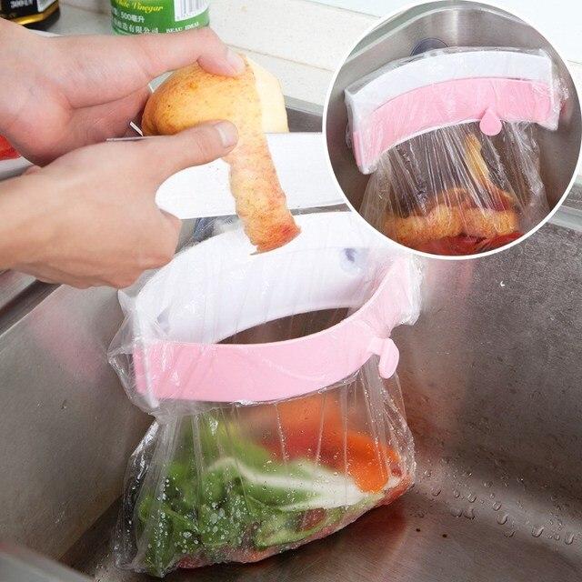 Bolsa de basura rack cocina fregadero almacenamiento armario cajón ...