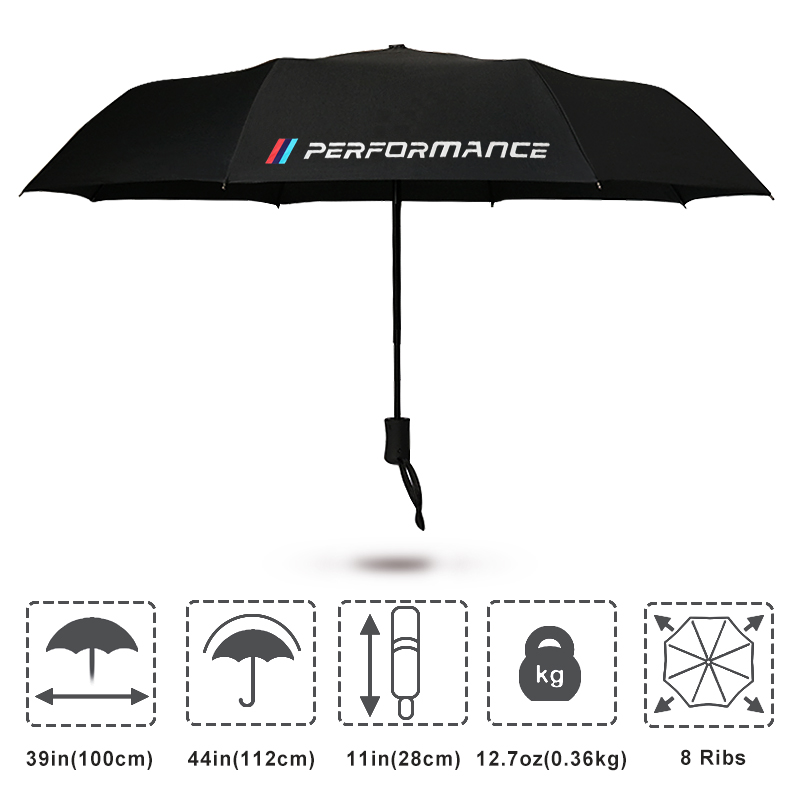 M Performance Logo Umbrella For BMW X5 X3 X6 E46 E39 E38 E90 E60 E36 F30 F30 E34 F10 F20 E92 E38 E91 E53 E87 M3 M5 3 5 7 Series