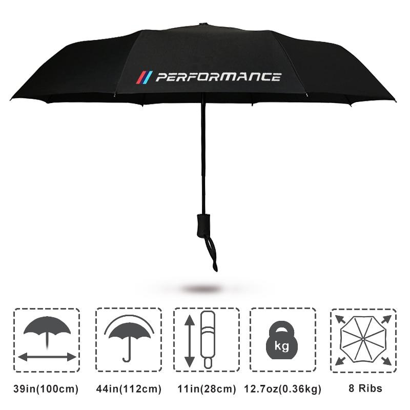 M wydajność Logo parasol dla BMW X5 X3 X6 E46 E39 E38 E90 E60 E36 F30 F30 E34 F10 F20 E92 E38 E91 E53 E87 M3 M5 3 5 7 serii