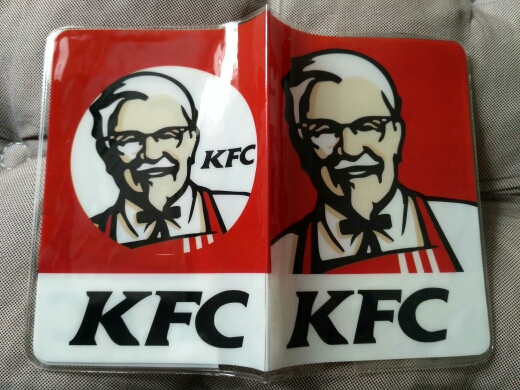 """""""KFC """"logo passport holder Passport PVC jacket a short paragraph brand sets of documents – to travel abroad to study photo review"""