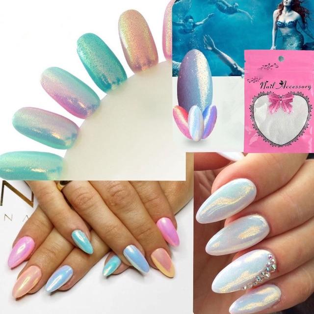 Aliexpress.com : Buy Mermaid Effect Pigment Nail Art Powder Dust ...