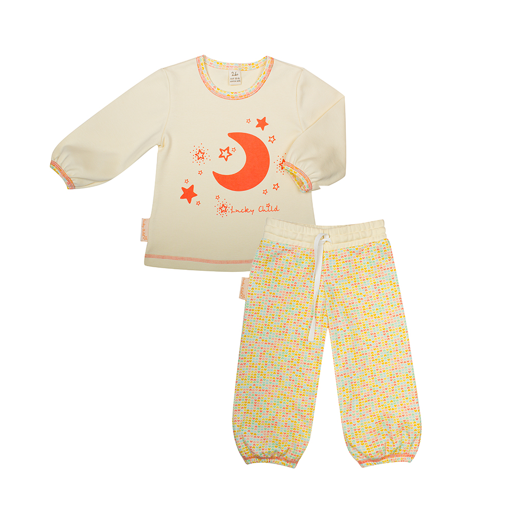 Pajama Sets Lucky Child for girls 12-400 (3T-8T) Children clothes kids clothes spring clothes new girl tidal range child cowboy salopettes children cartoon suit 2 pieces kids clothing sets suits
