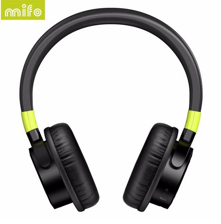 mifo F2 Wireless Bluetooth Headphones 1050mah Stereo Bass Headphone Bluetooth 4.1 Headset With Mic for iphone7 fone de ouvido anc wireless bluetooth headphones active noise cancelling folable headset with rotal design over ear headphone fone de ouvido