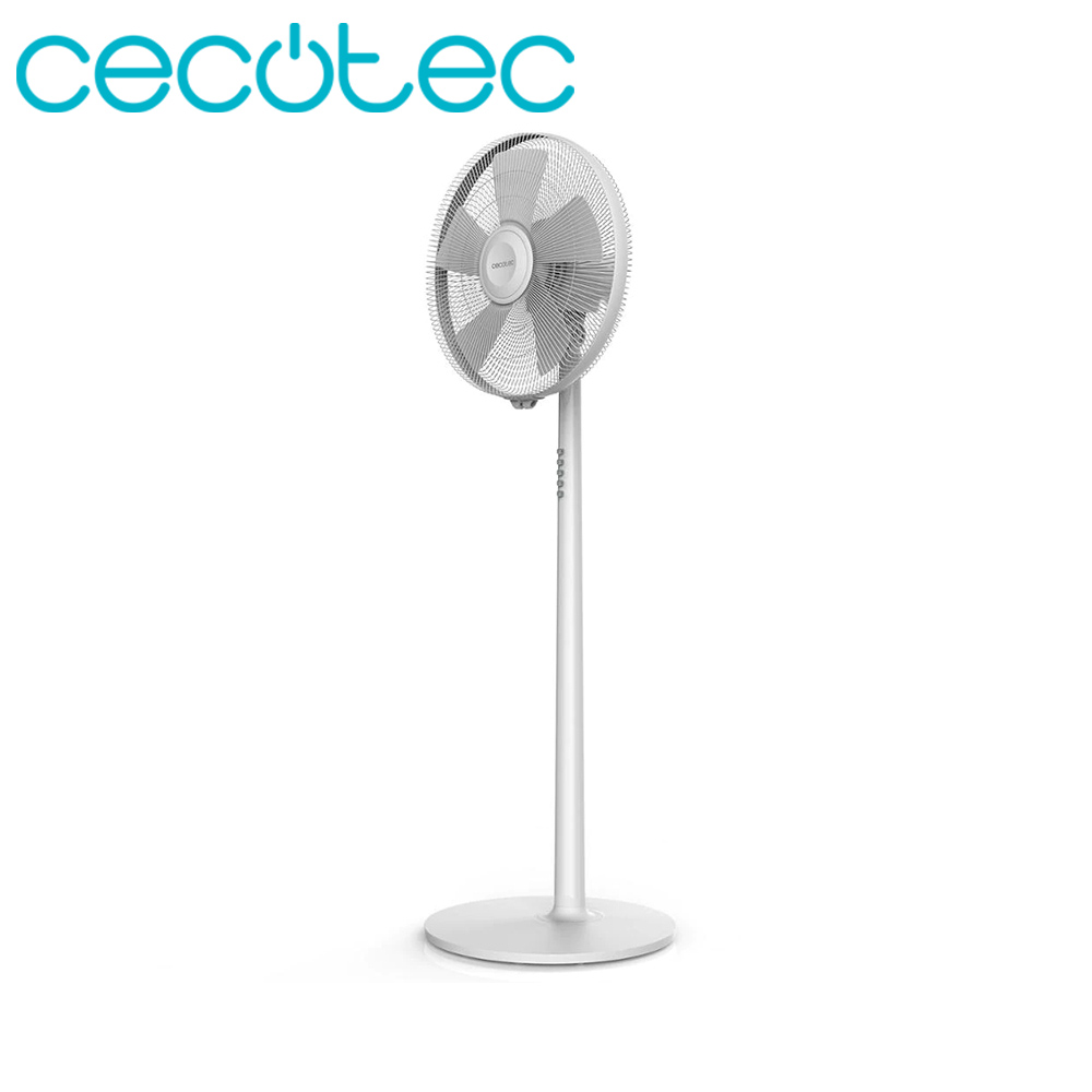 Cecotec Ventilador De Pie ForceSilence 540 Smart. Convertible 2 En 2. Oscilante. Regulable. Silencioso Y Potente