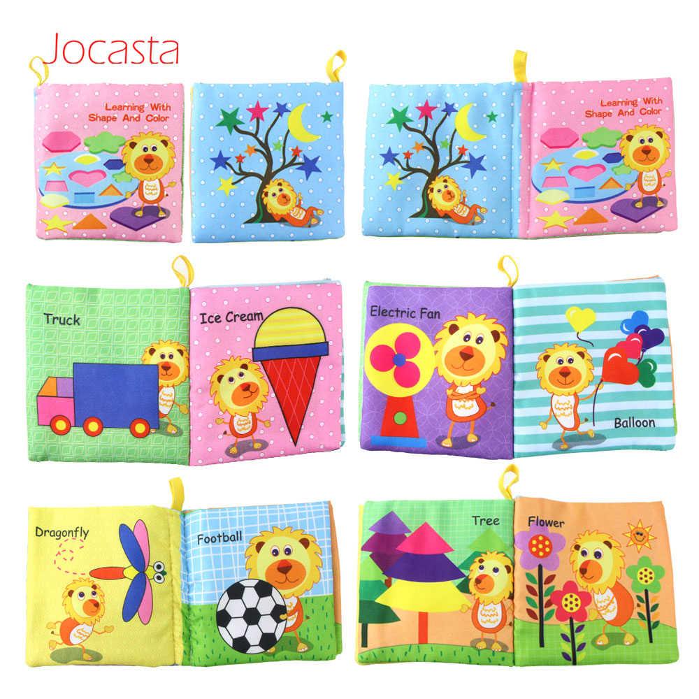 Kleurrijke Cartoon Baby Boek Geritsel Geluid Baby Speelgoed Auto Groenten Fruit Zachte Doek Boeken Gift Cognitie Leren Boek Voor Kinderen]