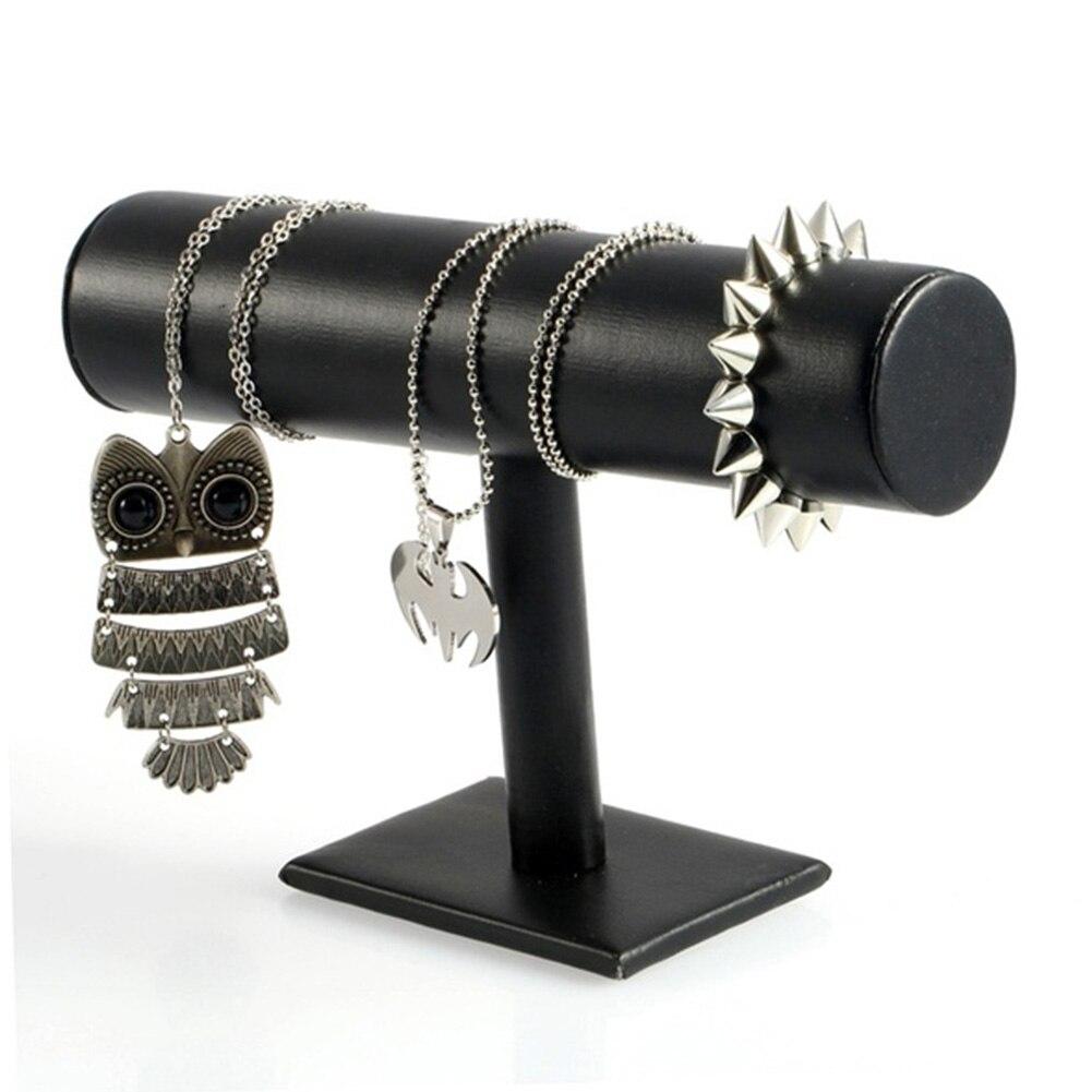 Rose/Red/Black Velvet Leather Hard Jewelry Display Stand Holder Jewelry Organizer Jewelry Stand Bracelet Chain Watch T-Bar Rack статуэтка jewelry stand 2