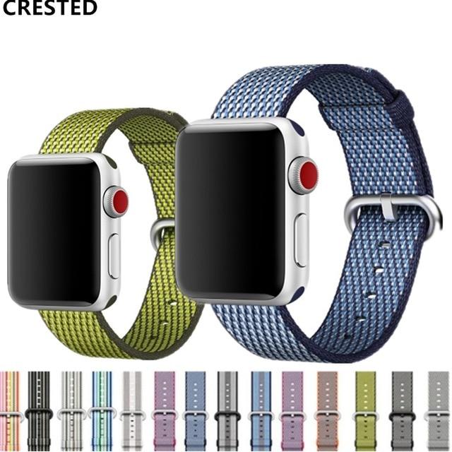 Ремешок Nato для apple watch Band apple watch 4 3 42 мм 44 мм correa iwatch band 38 мм 40 мм pulseira тканый нейлоновый Браслет спортивный ремень