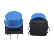 UXCELL Contact Type 10 Pcs Pcb Momentary Tactile Push Button Switch 12 X 12Mm 11Mm 4 Pin Dip W Cap Contact\