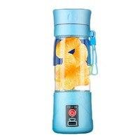 5 Colors 380ml USB Electric Fruit Juicer Handheld Smoothie Maker Blender Rechargeable Mini Portable Juice Cup