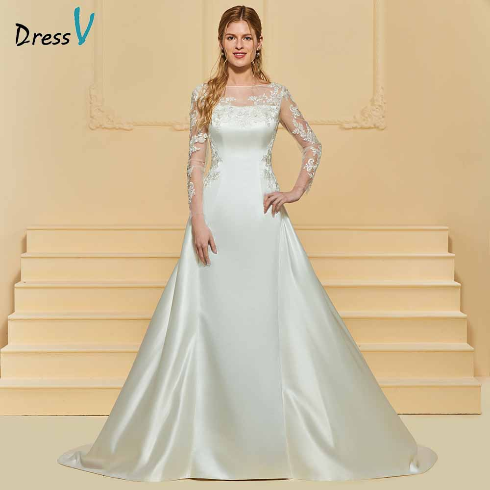 Wedding Gown With Neck Detail: Dressv Elegant A Line Scoop Neck Wedding Dress Long