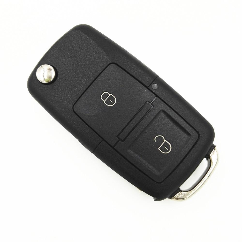 With Symbol 2 Button Flip Folding Remote Car Key Case Fob For Vw VOLKSWAGEN MK4 Seat Altea Alhambra Ibiza Key Shell Blank