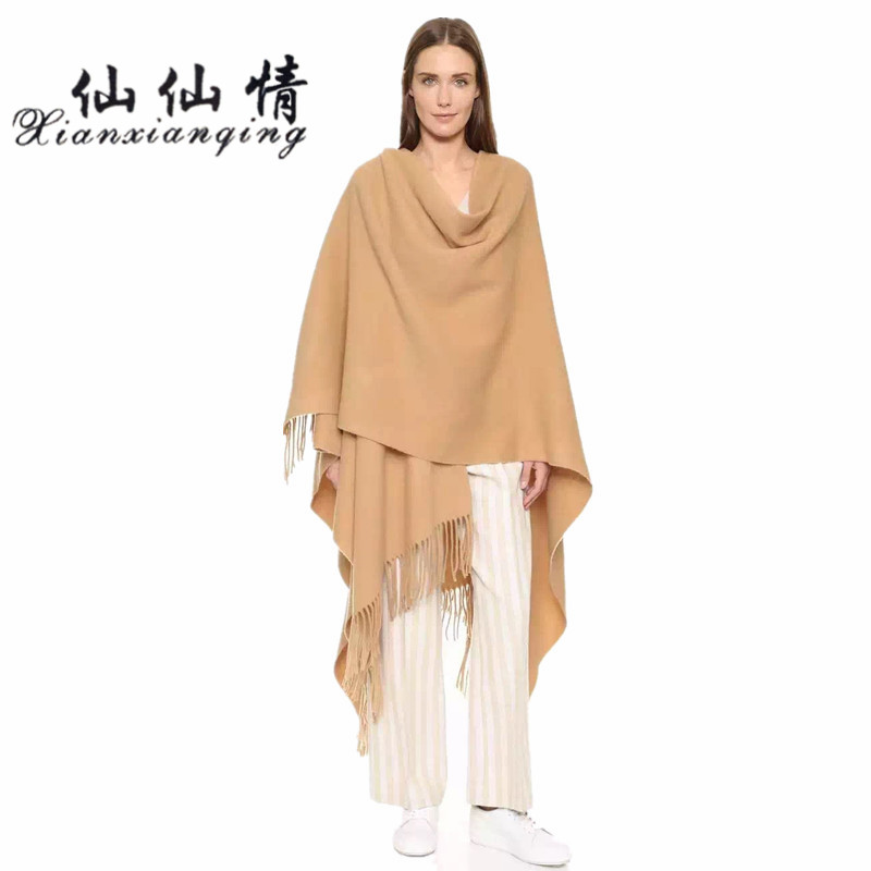XIANXIANQING 2017 Autumn and Winter High-grade warm Women Scarves Inner Mongolia lamb wool Solid Shawl 70*200CM AL8250