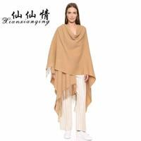 XIANXIANQING 2017 Autumn and Winter High grade warm Women Scarves Inner Mongolia lamb wool Solid Shawl 70*200CM AL8250