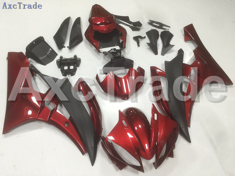 Motorcycle Fairings Kits For Yamaha YZF600 YZF 600 R6 YZF-R6 2006 2007 06 07 ABS Injection Fairing Bodywork Kit Red Black B57 hot sales yzf600 r6 08 14 set for yamaha r6 fairing kit 2008 2014 red and white bodywork fairings injection molding