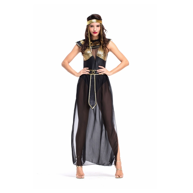 Coslive Sexy Women Bar Stage Performance Costumes Ancient Egyptian Goddess Isis Mythology Arabic Dancing Party Dress 1