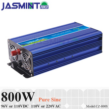 800W 96V/110VDC to 110V/220VAC Off Grid Pure Sine Wave Single Phase Solar or Wind Power Inverter, Surge 1600W