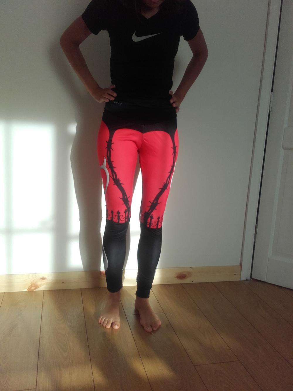951d2a8335bdf Heart Printed Yoga Pants | Sexy Sportswear • Brawny Line
