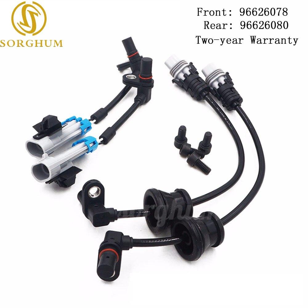 Neue (SET) Vorne Hinten Set ABS Rad Geschwindigkeit Sensor Für Chevrolet Captiva Equinox Pontiac Saturn 96626078 96626080