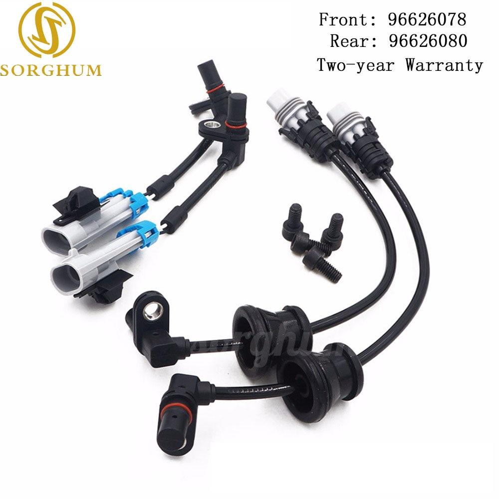 New (SET) Front Rear Set ABS Wheel Speed Sensor For Chevrolet Captiva Equinox Pontiac Saturn 96626078 96626080