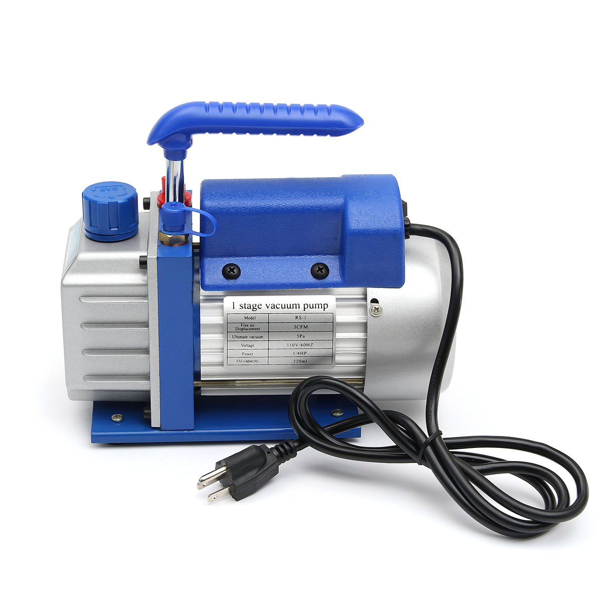 110V 180W 60HZ 3CFM Rotary Vane Low Pressure Single Stage Vacuum Pump 1/4HP Air Conditioning Tool System Refrigeration Tools 220v 180w r32 r1234yf special new refrigerant vacuum pump single stage pump air conditioning and refrigeration tools v i125y r32