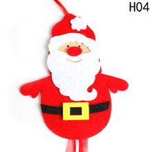 New Year Christmas decorations Pendant Santa Claus Christmas Hanging Pendants With Ribbon Xmas Tree Door Wall Hanging Drops