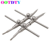 OOTDTY Spanner Camera Lens Repair Kits Stainless Steel Open Tools Pro DSLR DC Spanner Wrench 25-130MM