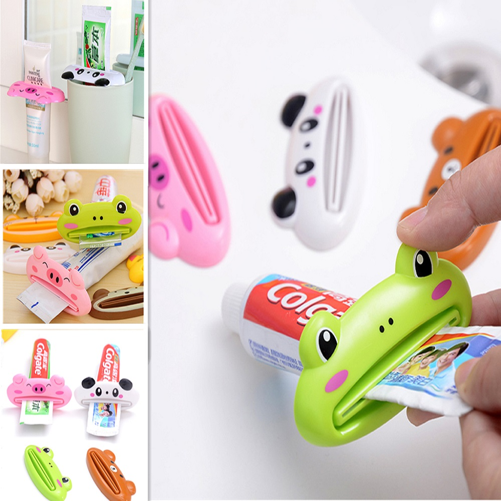 1Pc Cute Animal Toothpaste Squeezer Home Bathroom Cartoon Toothpaste Dispenser Tube Squeezer Rolling Holder Home Accessories