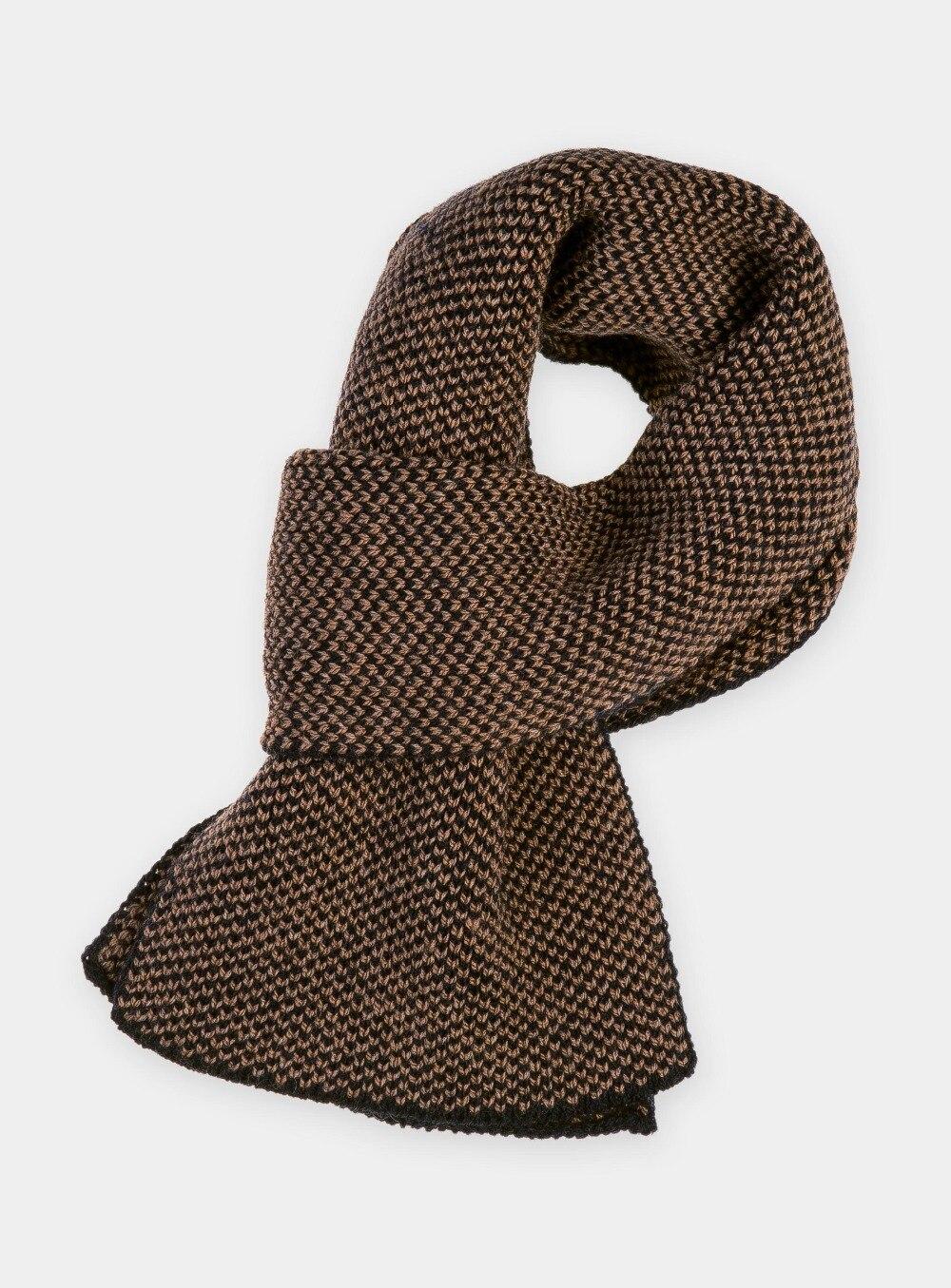 Scarf Canoe 3449118 BRUNA vertical stripe pattern fringed edge scarf