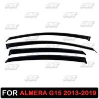 Оконные дефлекторы для Nissan Almera G15 2013-2019 1 набор-4 шт Автомобильный Стайлинг Защита от ветра защита от дождя козырек защита от дождя