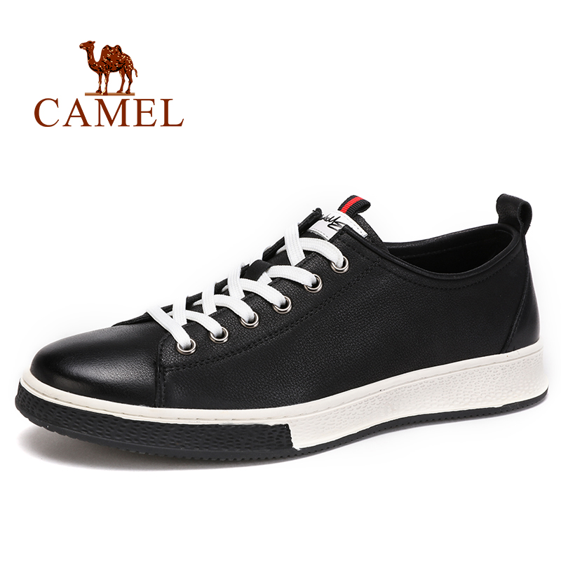CAMEL Men s Shoes Spring New Genuine Leather Men s Casual Fashion England Wild Textured Cowhide
