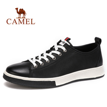 CAMEL Mens Shoes Spring New Genuine Leather Mens Casual Fashion England Wild Textured Cowhide Young Fashion Shoes Men