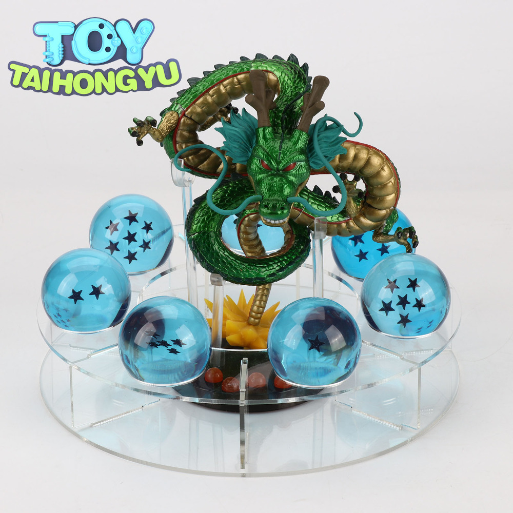 TAIHONGYU 30th anniversaire édition 15 cm Dragon Ball Z figurines Shenron Dragon Ball DBZ Set Esferas Del Dragon Figuras