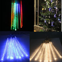 Waterproof 30cm 8 Tubes Holiday Meteor Shower Rain LED   String     Lights   For Indoor Outdoor Gardens Xmas Christimas Party Decor Tree