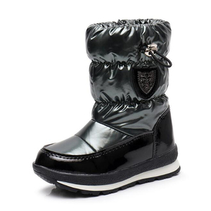Image 2 - Botas para niños para niñas, botas de nieve a la moda, botas deportivas impermeables, calzado antideslizante para niños, botas planas mm191