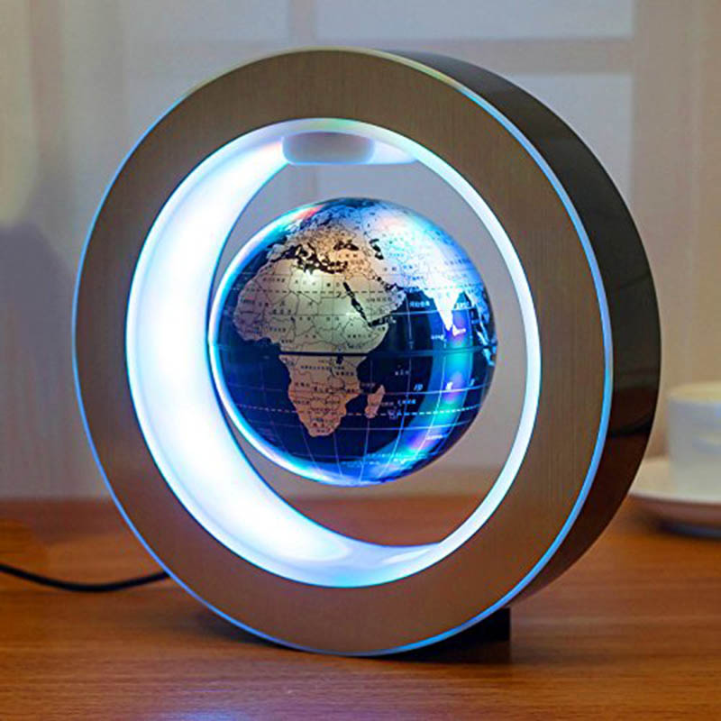 Mova Globe Floating Globe Magnetic Levitation Magnetic Levitation Light For Home Decoration C Shaped Magnet Levitating Globe