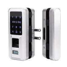 New Glass Door Lock Office Keyless Electric Fingerprint Lock With Touch Keypad Smart Card Remote Control Key Door Lock fingerprint lock office glass door single double door password lock card remote sensing remote control electronic access control