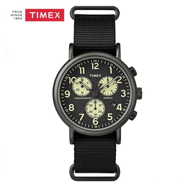d8db02897db4 Timex Weekender Chronograph Oversize Day-Date Nylon Strap Watch TW2P71500
