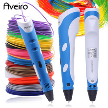 ФОТО 3d printing pen model 3 d drawing printer pens with 200 meter 20 color abs filament creative toys for kids best birthday's gifts