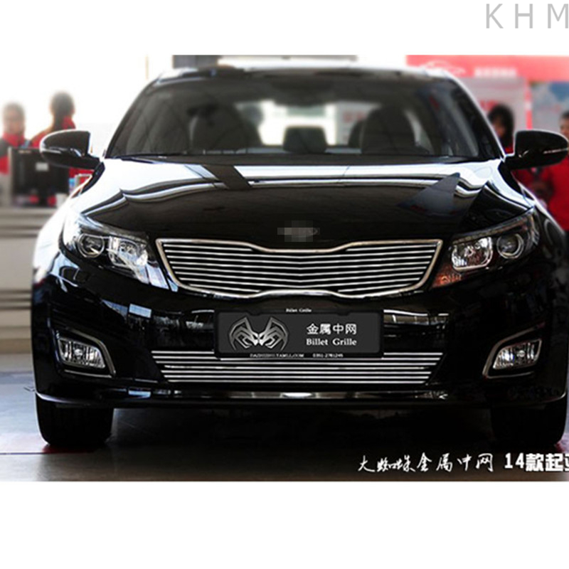 High quality stainless steel Front Grille Around Trim Racing Grills Trim For 2014 KIA Optima/K5 abs chrome front grille around trim racing grills trim for 2013 hyundai santa fe ix45